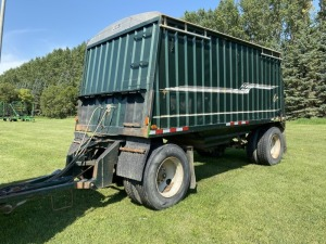 1986 Loadking 17' s/a hopper bottom grain trailer